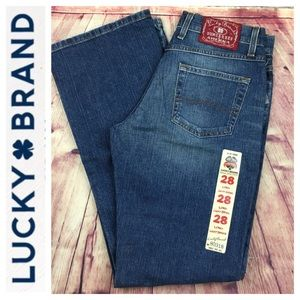 💸Lucky Brand Rider Fit Relaxed Bootcut 6/28